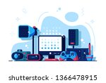 multimedia installations vector ... | Shutterstock .eps vector #1366478915