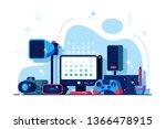 multimedia installations vector ...   Shutterstock .eps vector #1366478915