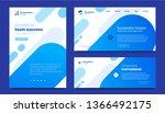 vector set of business template ... | Shutterstock .eps vector #1366492175