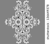 vector vintage floral ... | Shutterstock .eps vector #136649378