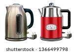 teapot. electric kettles set of ...   Shutterstock .eps vector #1366499798