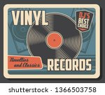 vinyl record disk vintage...   Shutterstock .eps vector #1366503758