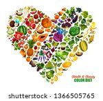 color diet heart poster of... | Shutterstock .eps vector #1366505765