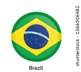 flags of brazil circle shaped... | Shutterstock .eps vector #1366506482