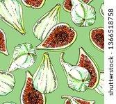ripe white green adriatic figs...   Shutterstock . vector #1366518758