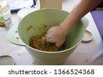 preparation of homemade cookies.... | Shutterstock . vector #1366524368