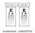 snellen chart for eye test.... | Shutterstock .eps vector #1366535705