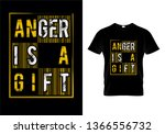 anger is a gift typography t... | Shutterstock .eps vector #1366556732