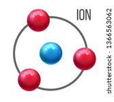 ion atom  molecule education... | Shutterstock .eps vector #1366563062