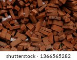 pile of brick block used for...   Shutterstock . vector #1366565282