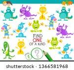 cartoon illustration of find... | Shutterstock .eps vector #1366581968