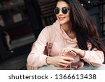 beautiful model posing for the... | Shutterstock . vector #1366613438