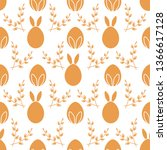 seamless pattern with easter... | Shutterstock .eps vector #1366617128