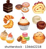 cakes photo realistic vector set | Shutterstock .eps vector #136662218