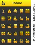 indoor icon set. 26 filled...   Shutterstock .eps vector #1366660988