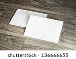 blank corporate identity... | Shutterstock . vector #136666655