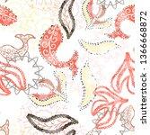 seamless pattern floral design. ... | Shutterstock . vector #1366668872