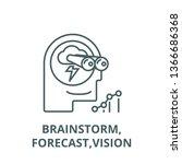 brainstorm forecast vision line ...   Shutterstock .eps vector #1366686368