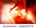 man and a woman dancing salsa on   Shutterstock . vector #1366694978