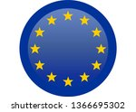 simple flag of european union. | Shutterstock .eps vector #1366695302