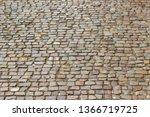 an old stoneblock pavement...   Shutterstock . vector #1366719725