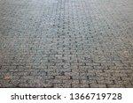 an old stoneblock pavement...   Shutterstock . vector #1366719728