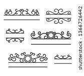 hand drawn dividers. break...   Shutterstock .eps vector #1366726442