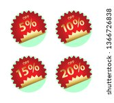 round price tag   Shutterstock .eps vector #1366726838