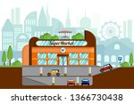 the concept of a supermarket...   Shutterstock .eps vector #1366730438