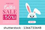 colorful easter banner offering ... | Shutterstock .eps vector #1366733648