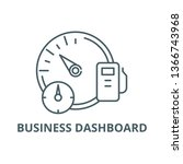 business dashboard line icon ...