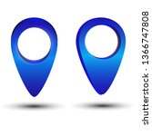 3d map pointer pin isolated on...