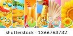 summer vacation. sun  water... | Shutterstock .eps vector #1366763732