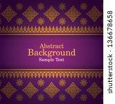 thai art background  thai art...   Shutterstock .eps vector #136678658