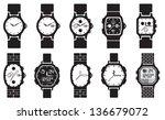 icon set clocks  vector... | Shutterstock .eps vector #136679072