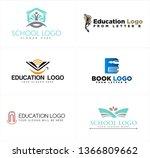 black blue gray line art letter ... | Shutterstock .eps vector #1366809662