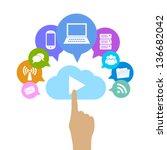 vector cloud computing... | Shutterstock .eps vector #136682042