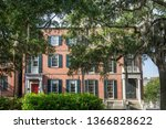 historic district in savannah ...   Shutterstock . vector #1366828622