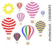 hot air balloon. vector... | Shutterstock .eps vector #136683692