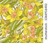 beautiful arrangement of spring ...   Shutterstock .eps vector #1366916402