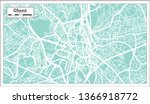 ghent city map in retro style....   Shutterstock . vector #1366918772