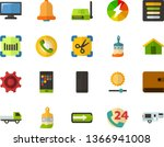 color flat icon set   house...
