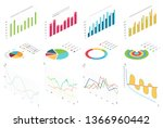isometric flat data finance... | Shutterstock .eps vector #1366960442