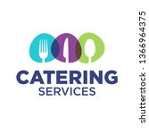 catering company logo template... | Shutterstock .eps vector #1366964375