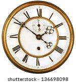 vintage victorian old clock... | Shutterstock . vector #136698098