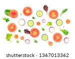 fresh vegetable salad... | Shutterstock . vector #1367013362