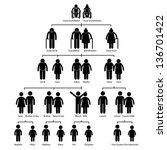 family tree genealogy diagram... | Shutterstock . vector #136701422