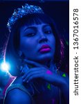 beautiful female as nefertity... | Shutterstock . vector #1367016578