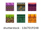flat vector set of 6 texture...