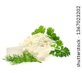 butter and cottage cheese with... | Shutterstock .eps vector #1367023202